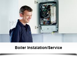 Engineer installing gas boiler in Dublin